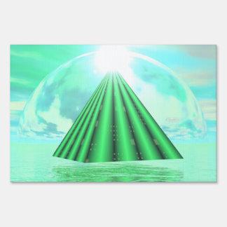 Mystical pyramid - 3D render Sign