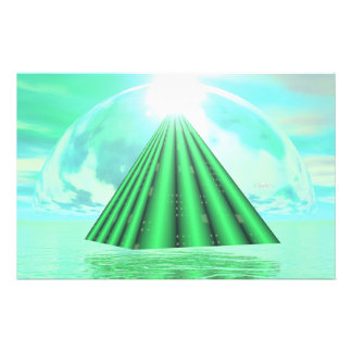 Mystical pyramid - 3D render Stationery