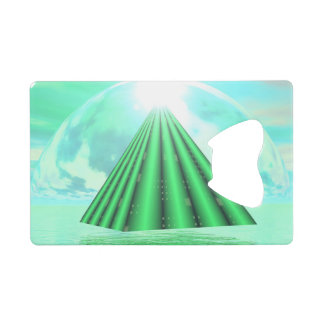 Mystical pyramid - 3D render Wallet Bottle Opener