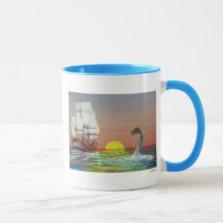 Mystical Sea Dragon & Ship Mug by Lang Solurson