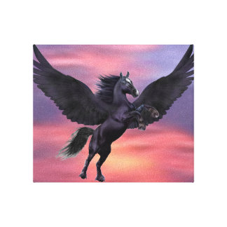 MYSTICAL SUNSET PEGASUS CANVAS PRINT