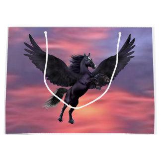 MYSTICAL SUNSET PEGASUS LARGE GIFT BAG