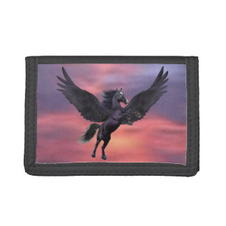 MYSTICAL SUNSET PEGASUS TRI-FOLD WALLETS