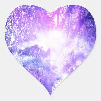 Mystical Tree Heart Sticker