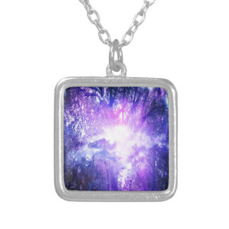 Mystical Tree Silver Plated Necklace