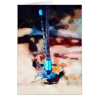 Mystical Waterlogue Damselfly Note Card