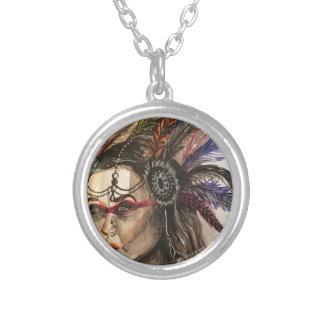 Mystical Woman Silver Plated Necklace