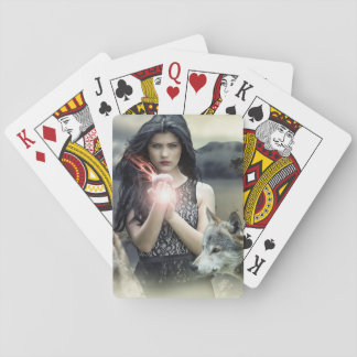 Mystical Woman with Wolves and Magic Ball Cards