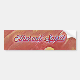 Mystical Yellow Ethereal Spirit Cinnamon Abstract Bumper Sticker