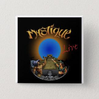 Mystique Band Logo Square Button