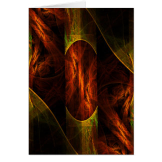 Mystique Jungle Abstract Art Note Card