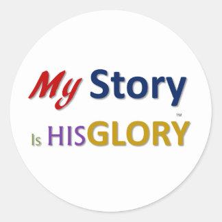 mystoryishisglory classic round sticker