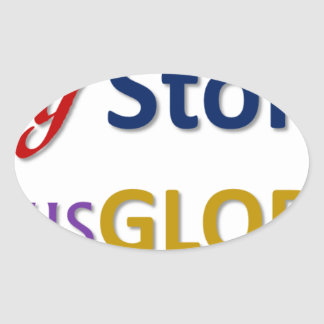mystoryishisglory oval sticker