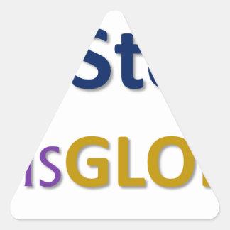 mystoryishisglory triangle sticker