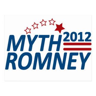 Myth Romney Anti Mitt 2012 Postcard