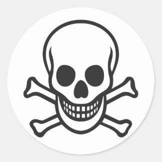 Mythbusters Skull Round Sticker