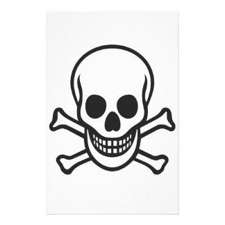 Mythbusters Skull Stationery Design