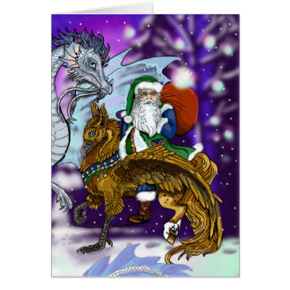 Mythic Santa Card