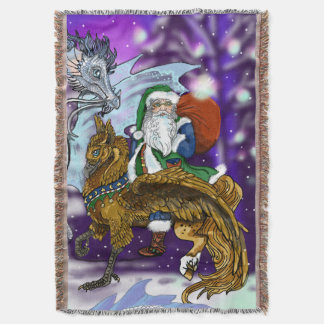 Mythic Santa Throw Blanket