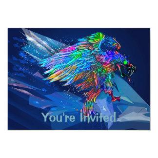 Mythical Killer Crayon Colored Eagle Card