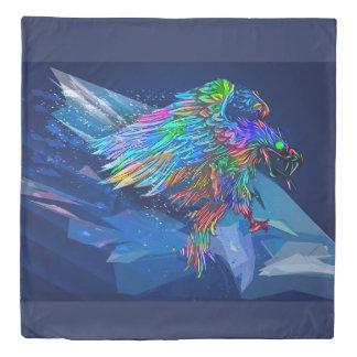 Mythical Killer Crayon Colored Eagle Duvet Cover