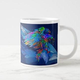 Mythical Killer Crayon Colored Eagle Large Coffee Mug