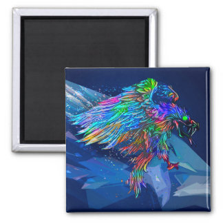 Mythical Killer Crayon Colored Eagle Magnet