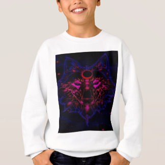 Mythical Neon Blue Wolf Sweatshirt