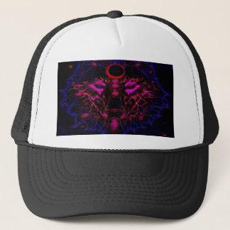 Mythical Neon Blue Wolf Trucker Hat