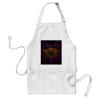 Mythical Neon Purple Wolf Standard Apron