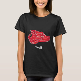 Mythical Red Wolf. T-Shirt