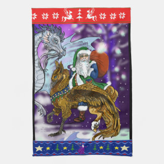 Mythical Santa Clause Kitchen Towel