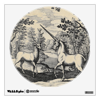 Mythical Unicorn in the Forest Wall Decal