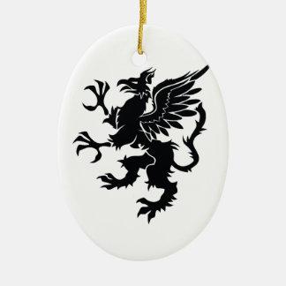 Mythological dragon ceramic ornament