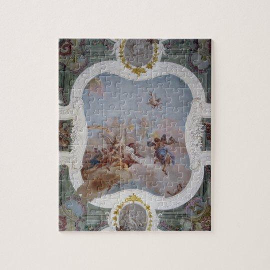 Mythological Scene with the Zodiac (fresco) Jigsaw Puzzle