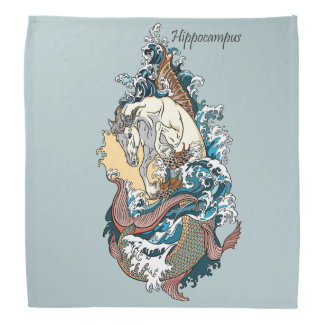 mythological sea horse bandana