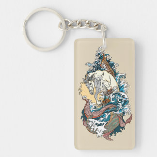mythological sea horse keychain