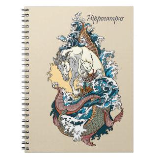 mythological sea horse notebook