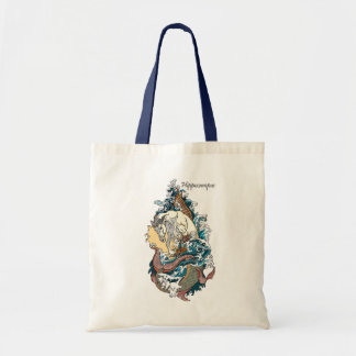 mythological sea horse tote bag