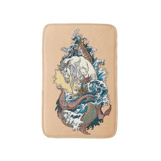 mythological seahorse bath mat