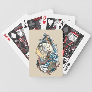 mythological seahorse bicycle playing cards
