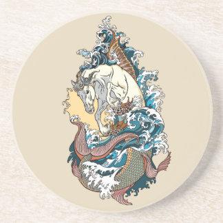mythological seahorse coaster