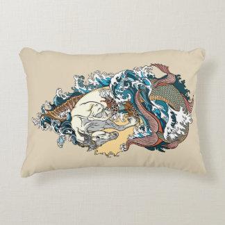 mythological seahorse decorative pillow