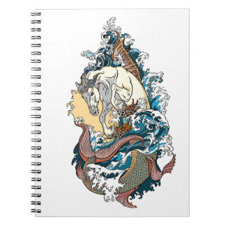 mythological seahorse notebook