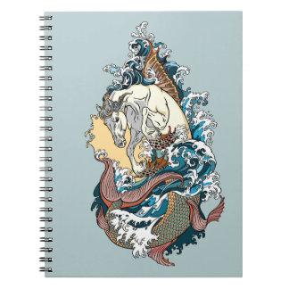 mythological seahorse notebook