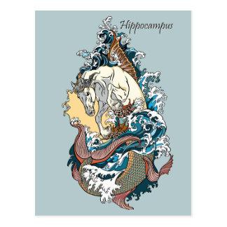 mythological seahorse postcard