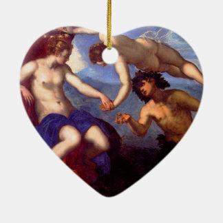 Mythological Venus Ceramic Heart Ornament