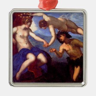 Mythological Venus Silver-Colored Square Ornament