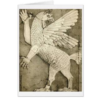 Mythological Winged Figure Card