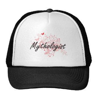 Mythologist Artistic Job Design with Butterflies Trucker Hat